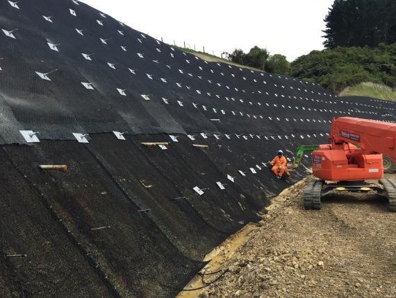 Hunua Quarry GRP Slope Protection | Grouting Services